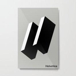 HAPPY HELVETICA Metal Print