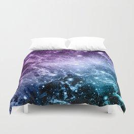 Purple Teal Galaxy Nebula Dream #4 #decor #art #society6 Duvet Cover