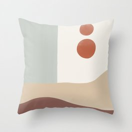 Abstract Desert Throw Pillow
