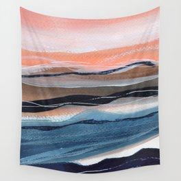 Modern watercolour landscape seaside Wall Tapestry