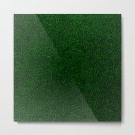 Vintage Floral Forest Emerald Green Metal Print