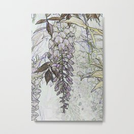 Wisteria Abstract Metal Print
