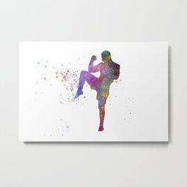 Taewondo-karate-muay thai-wrestling in watercolor 05 Metal Print