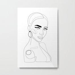 Girly Metal Print