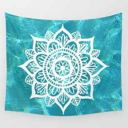 Water Mandala Wall Tapestry