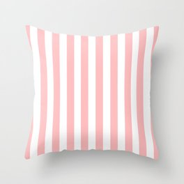 Cabana Stripes in Peachy Pink Throw Pillow