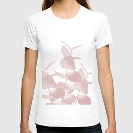 Eucalyptus Leaves Blush White #1 #foliage #decor #art #society6 T-shirt