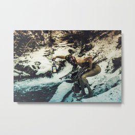 Forage And Exist Metal Print