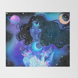 Nocturnal Goddess Throw Blanket