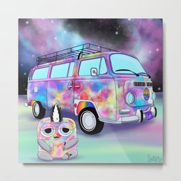 Wondrous & Whimzical Places: Funkadelic and his Groovy Magic Bus Metal Print