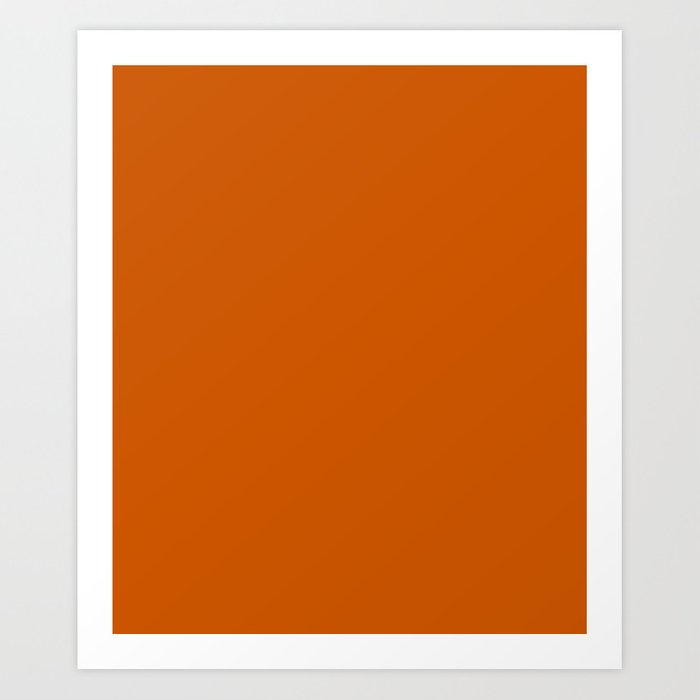 Burnt Orange - solid color Kunstdrucke