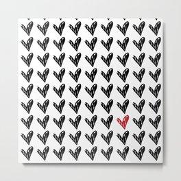 CUTE HEARTS PATTERN II Metal Print