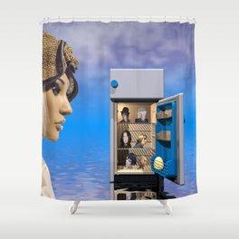 pretty weird Shower Curtain