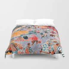 Columbia Road Flower Market Duvet Cover