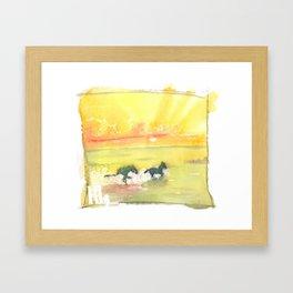 splash of sun Framed Art Print