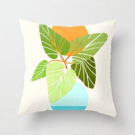 Tropical Symmetry II / Abstract Sunset Landscape Throw Pillow