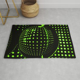 Green spots in the dark Rug