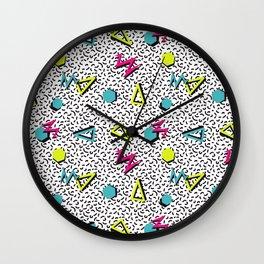 Funky 80s & 90s Memphis Pattern Design Wall Clock