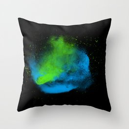 cold dust explosion Throw Pillow