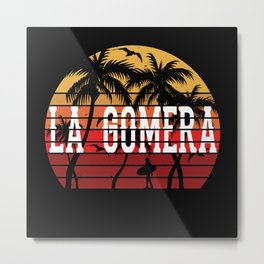 La Gomera Palm Tree Holiday Motif Gift Idea Design Metal Print