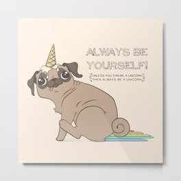 The Magical Pugicorn Metal Print