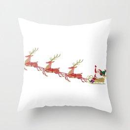 Santa's sleigh Throw Pillow