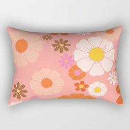 Groovy 60's Mod Flower Power Rectangular Pillow