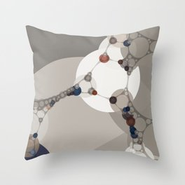 sarah - midtone abstract subdued colour taupe white tan purple Throw Pillow