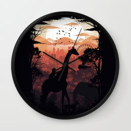 From City to Jungle Wall Clock