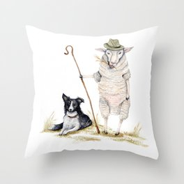 Sheepherd Sheep Throw Pillow