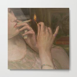 'After Leaving Suzanne, Midnight 'a portrait painting by Auguste Levêque Metal Print