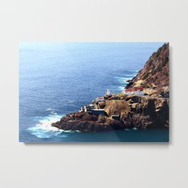Newfoundland Canadian National Historical Site Fort Amherst and WWII bunkers Metal Print