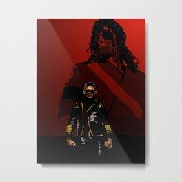 UR MJ passing the torch Metal Print