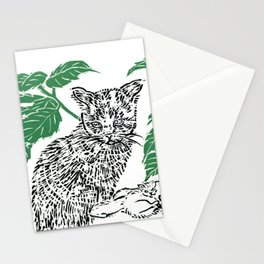 woodblock print Stationery Cards