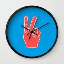 Peace and Love - Minimal Pop Art Hand Wall Clock
