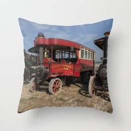 Steam bus and Friends  Throw Pillow