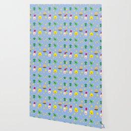 final fantasy pattern blue Wallpaper