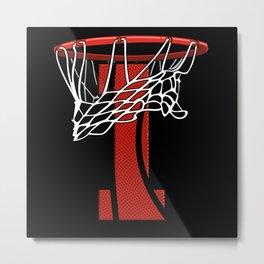 1 Year Basketball Birthday - Bball Metal Print