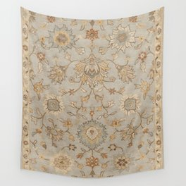 Antique Persian Floral Medallion Vector Painting Wall Tapestry