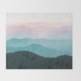 Smoky Mountain National Park Sunset Layers III - Nature Photography Throw Blanket