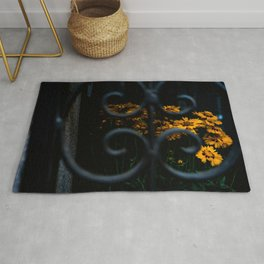 Daisies in the shadows Rug