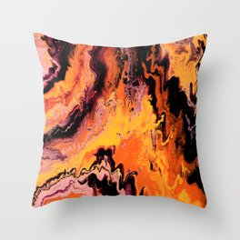 Up in Flames Throw Pillow