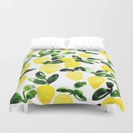Summer Lemons Duvet Cover