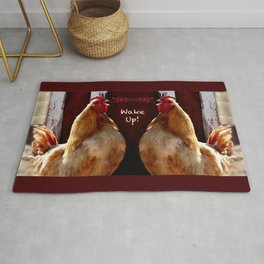 Wake Up! Rooster Rug