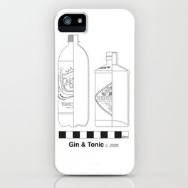 Gin and Tonic Archaeological Drawing iPhone Case