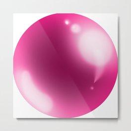 esfera rosa Metal Print
