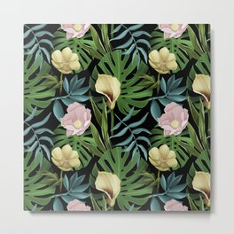 Boho styled summer floral with tulips & flowers Metal Print