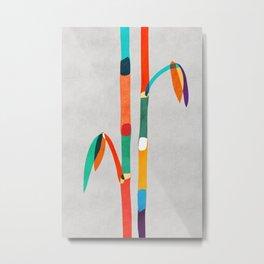 Couple of Bamboo Metal Print