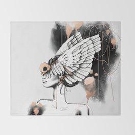 Bird of Minerva Throw Blanket