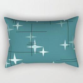 Mid Century Modern Stars (Ocean Green) Rectangular Pillow